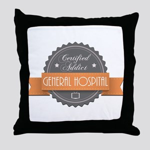 Certified Addict: General Hospital Throw Pillow