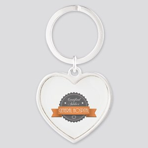 Certified Addict: General Hospital Heart Keychain