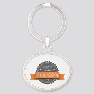 Certified Addict: General Hospital Oval Keychain