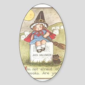 Vintage Halloween Sticker (Oval)
