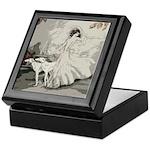 Art Deco Lady And Borzoi Keepsake Box