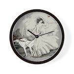 Art Deco Lady And Borzoi Wall Clock
