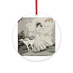 Art Deco Lady And Borzoi Medallion