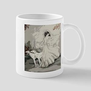 Art Deco Lady And Borzoi Mugs