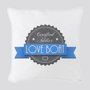 Certified Addict: Love Boat Woven Throw Pillow