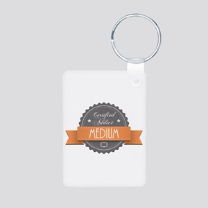 Certified Addict: Medium Aluminum Photo Keychain