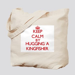 Keep calm by hugging a Kingfisher Tote Bag