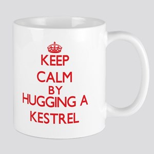 Keep calm by hugging a Kestrel Mugs