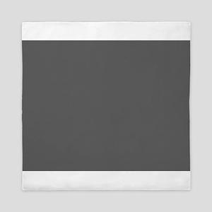 medium gray solid 1 Queen Duvet