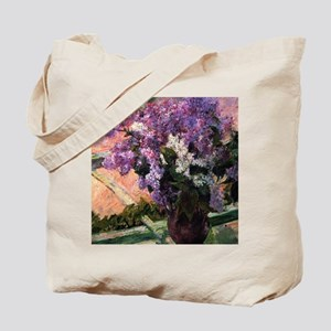 Lilacs in a Window by Mary Cassatt Tote Bag
