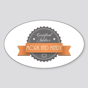 Certified Addict: Mork and Mindy Oval Sticker