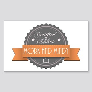 Certified Addict: Mork and Mindy Rectangle Sticker