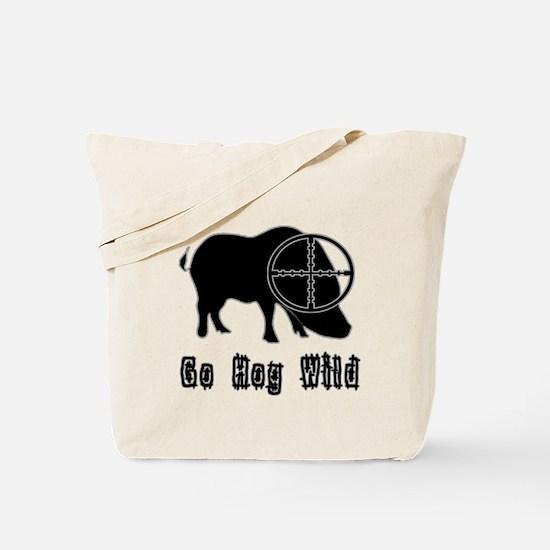 Feral Hog- Go Hog Wild Tote Bag