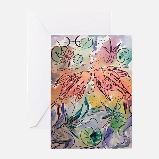 Pisces the Fish Zodiac  Greeting Card