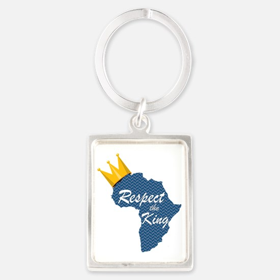 Respect the King, Africa Portrait Keychain