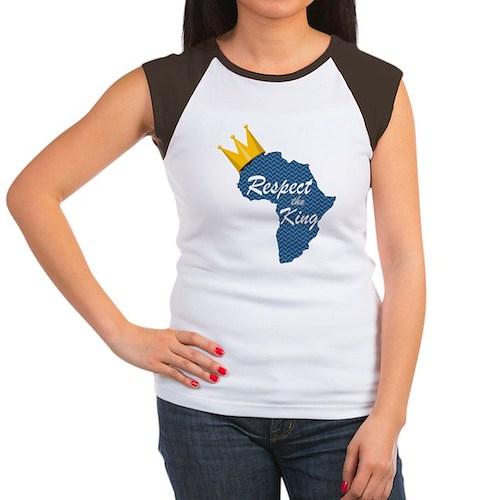 Respect the King, Afric Women's Cap Sleeve T-Shirt