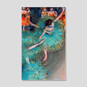 The Green Dancer by Edgar Degas 20x12 Wall Decal