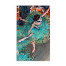 The Green Dancer by Edgar Degas Wall Decal