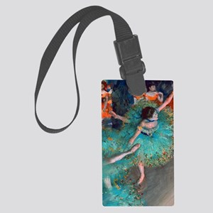The Green Dancer by Edgar Degas Large Luggage Tag
