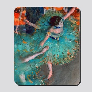The Green Dancer by Edgar Degas Mousepad