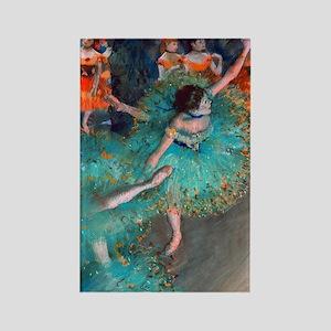 The Green Dancer by Edgar Degas Rectangle Magnet