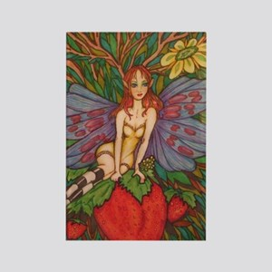 Strawberry Fairy Rectangle Magnet