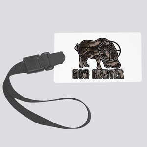 Riveted Metal Feral Hog Hunter Luggage Tag
