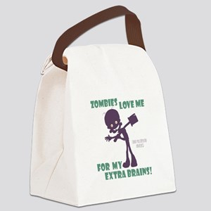Zombies Love Me III Canvas Lunch Bag