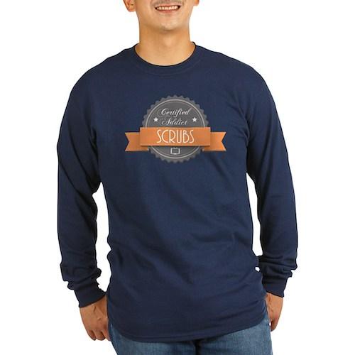 Certified Addict: Scrubs Long Sleeve Dark T-Shirt