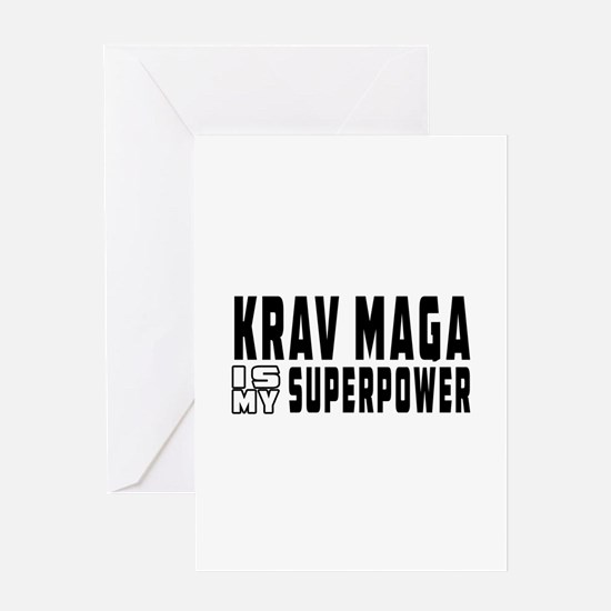 Krav Maga Is My Superpower Greeting Card