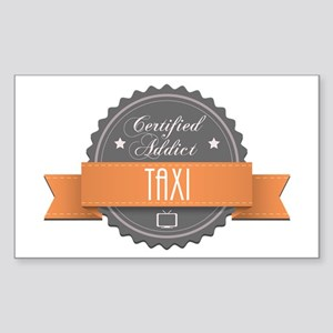 Certified Addict: Taxi Rectangle Sticker