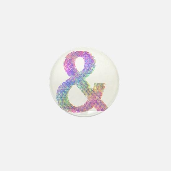 Rainbow Helvetica Ampersand Mini Button