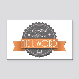 Certified Addict: The L Word Rectangle Car Magnet