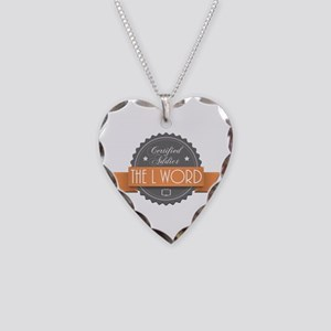 Certified Addict: The L Word Necklace Heart Charm