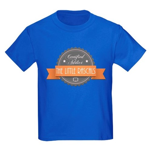 Certified Addict: The Little Rascals Kids Dark T-S