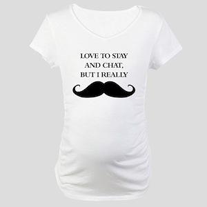 I Really Mustache Maternity T-Shirt