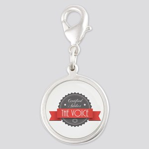 Certified Addict: The Voice Silver Round Charm