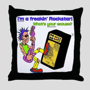 Freakin' Rockstar! Throw Pillow
