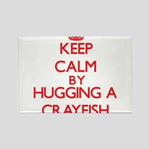Keep calm by hugging a Crayfish Magnets