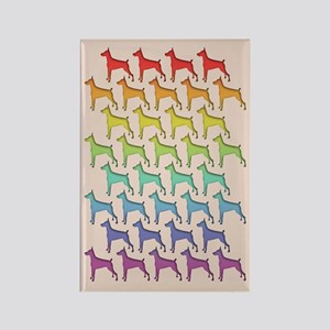 Doberman Spectrum Rectangle Magnet