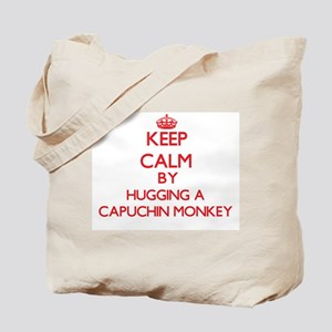 Keep calm by hugging a Capuchin Monkey Tote Bag