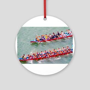 Dragon Boats Ornament (Round)