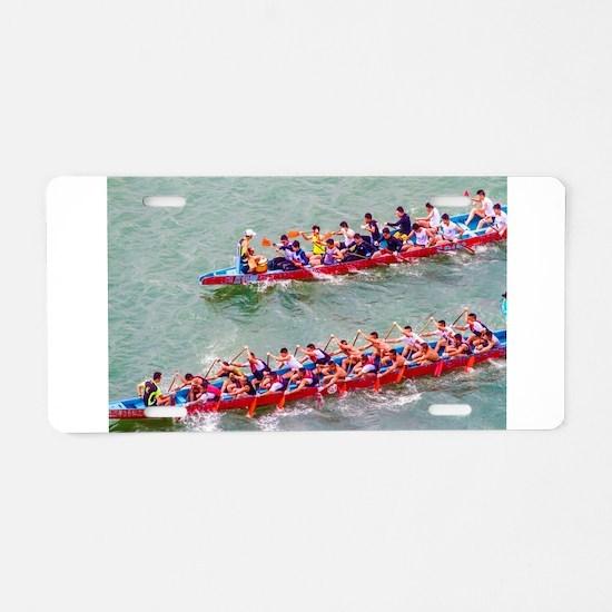 Dragon Boats Aluminum License Plate