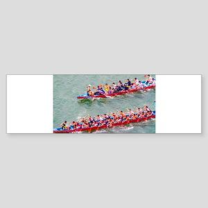 Dragon Boats Bumper Sticker