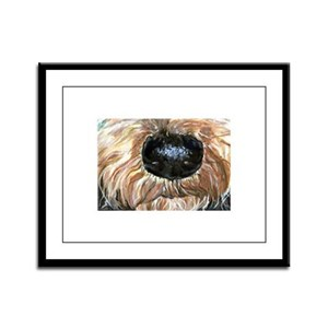 Airedale Nose Nosey Framed Panel Print