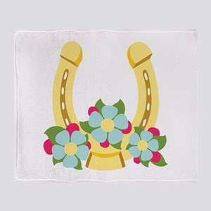 Golden Horseshoe Throw Blanket