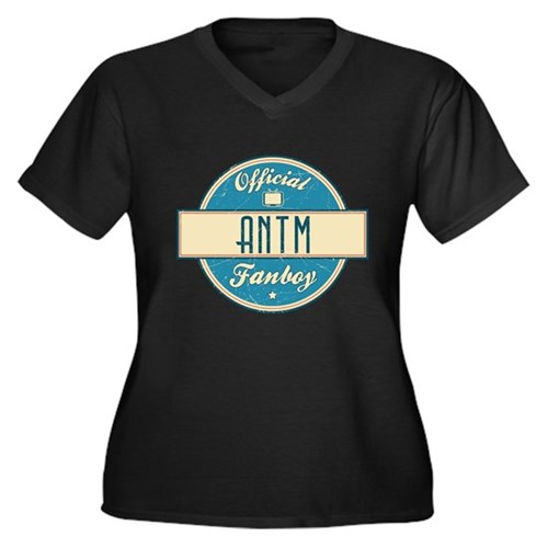 Official ANTM Fanboy Women's Dark Plus Size V-Neck