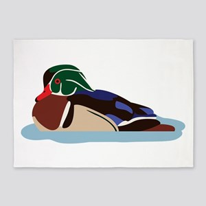 Wood Duck 5'x7'Area Rug