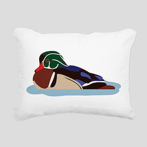 Wood Duck Rectangular Canvas Pillow