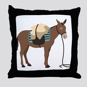 Pack Mule Throw Pillow